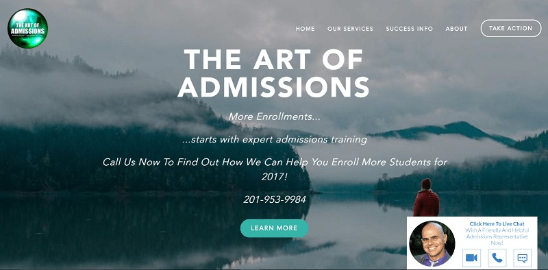 the art admission