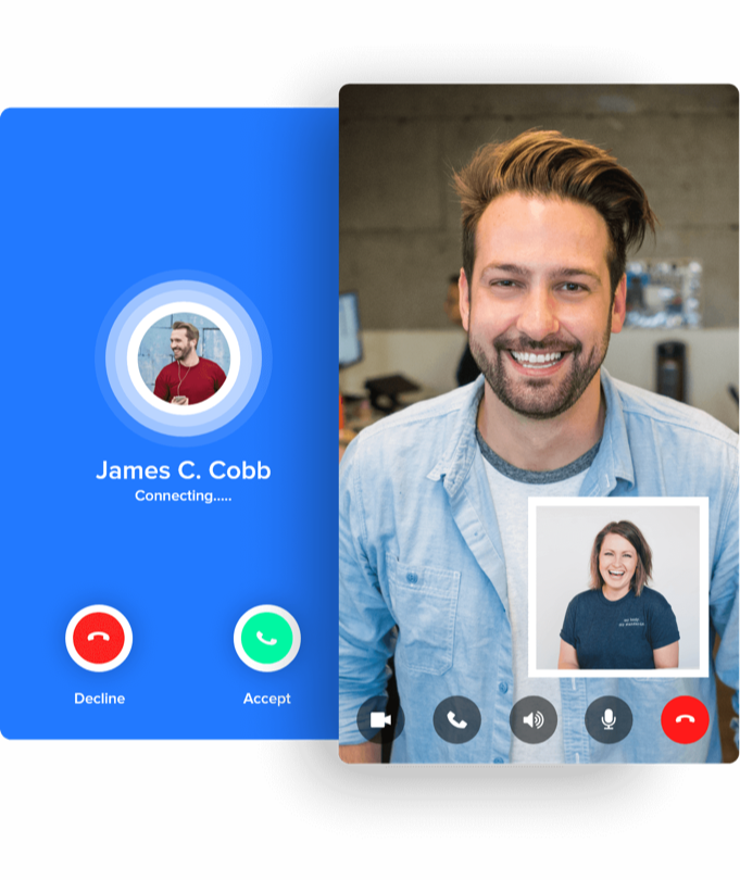 video chat and voice call in mobile apps