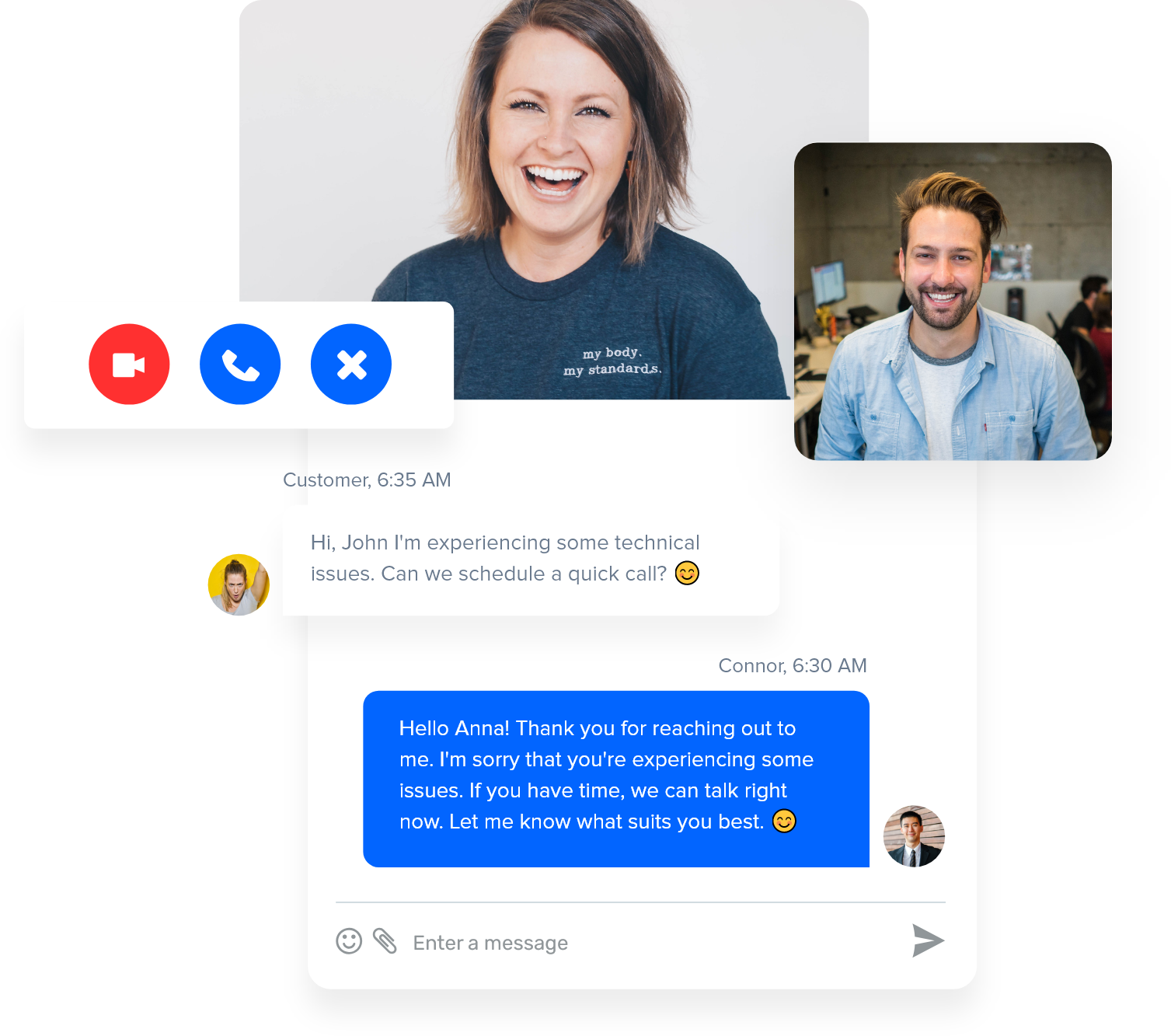 video chat customer support for saas