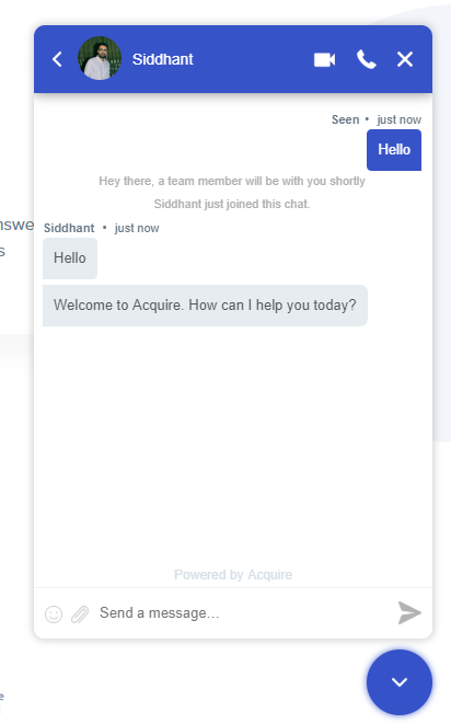 Acquire Text-based chatbot