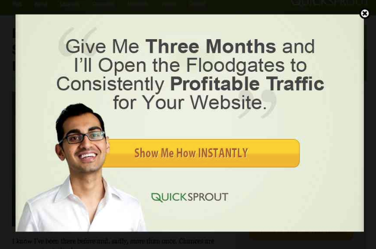 Quicksprout Scroll pop-up