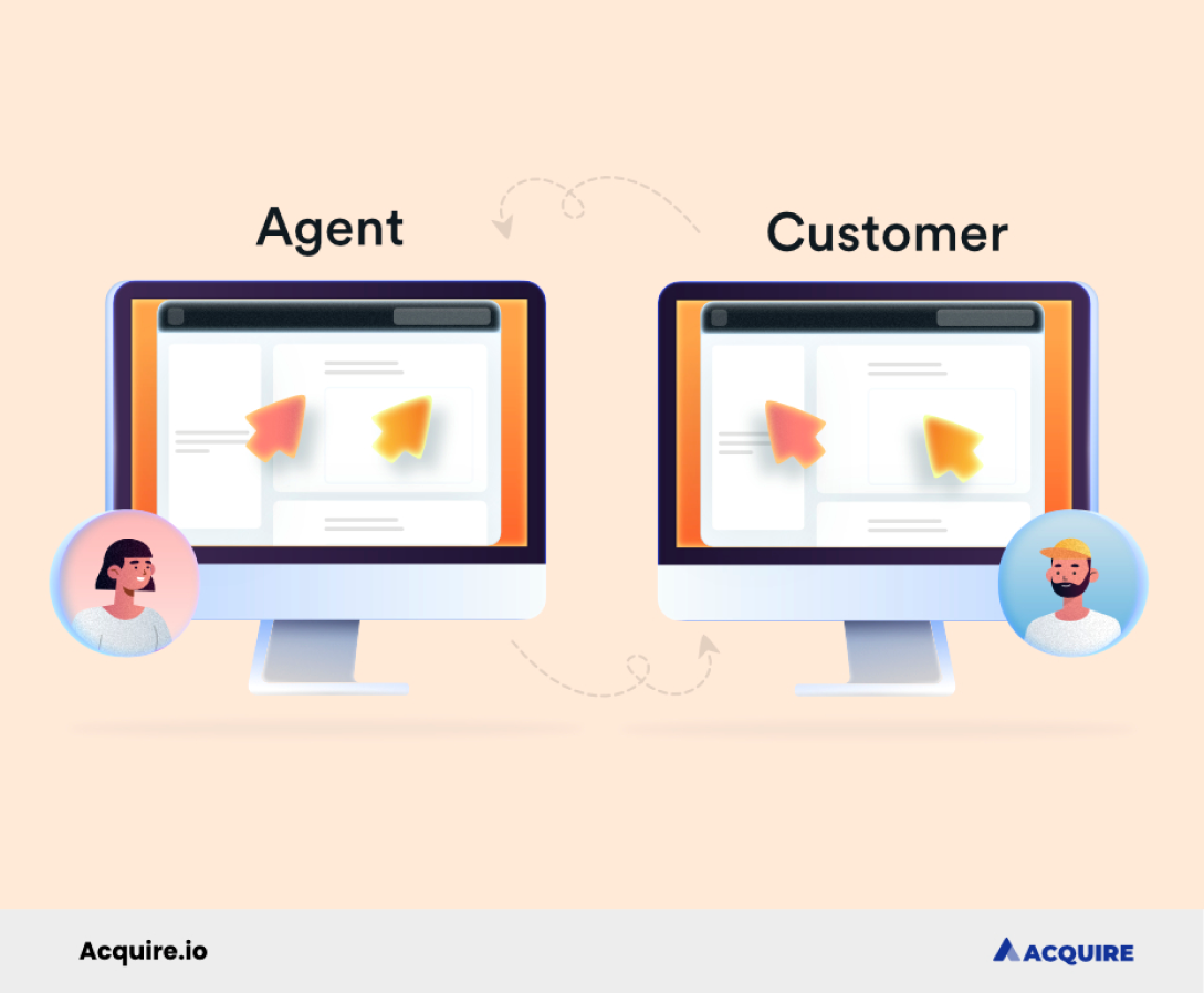 Customer support agents can assist customers through browser-based collaborations.