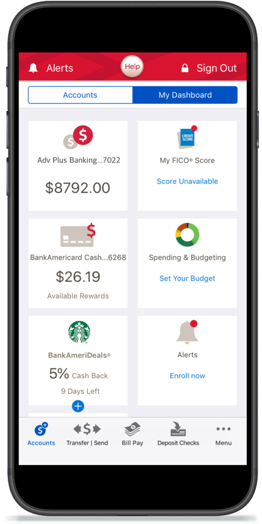 Bank of America mobile app customer experience