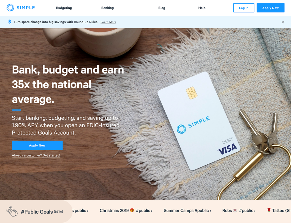 Simple offers the digital banking solutions with the latest financial tools
