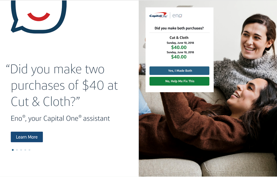 Eno, Capital One Intelligent Assistant