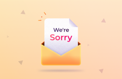 Apology email to customer template