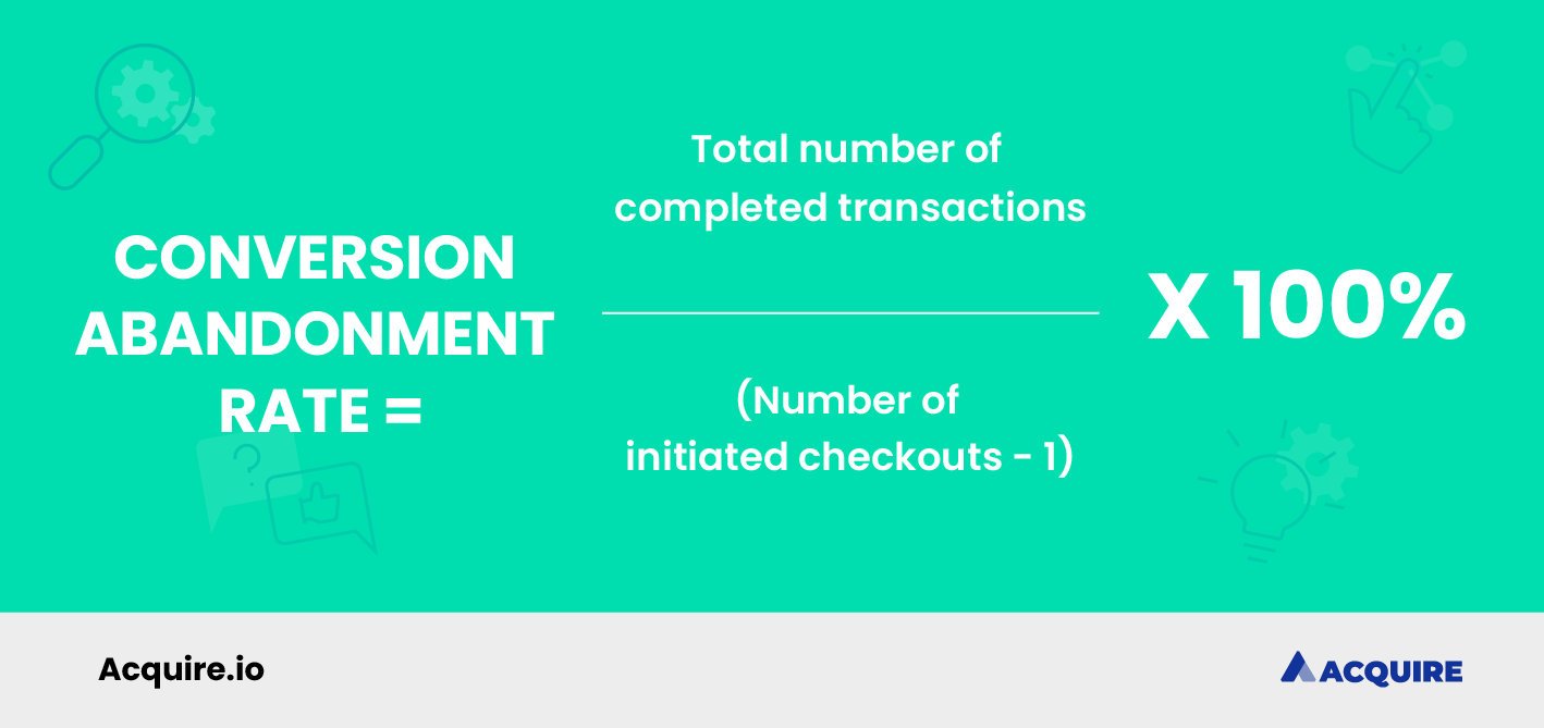How to calculate conversion abandonment rate formula