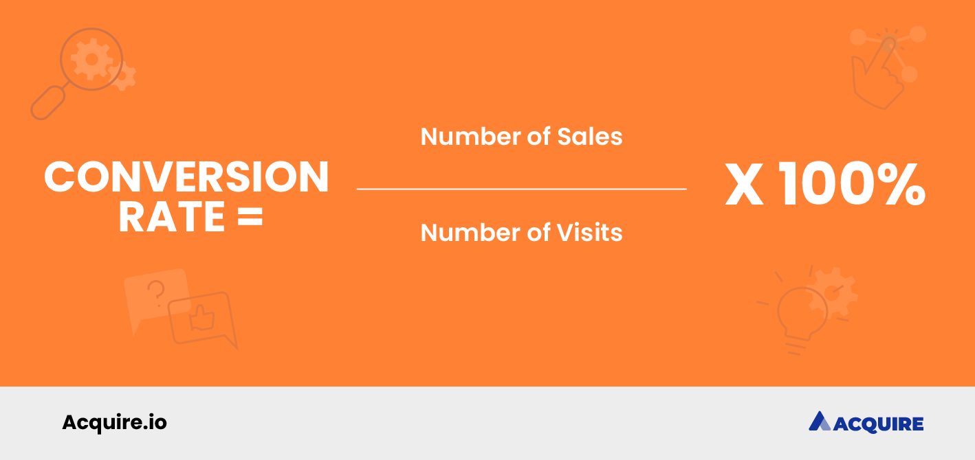 How to calculate conversion rate formula