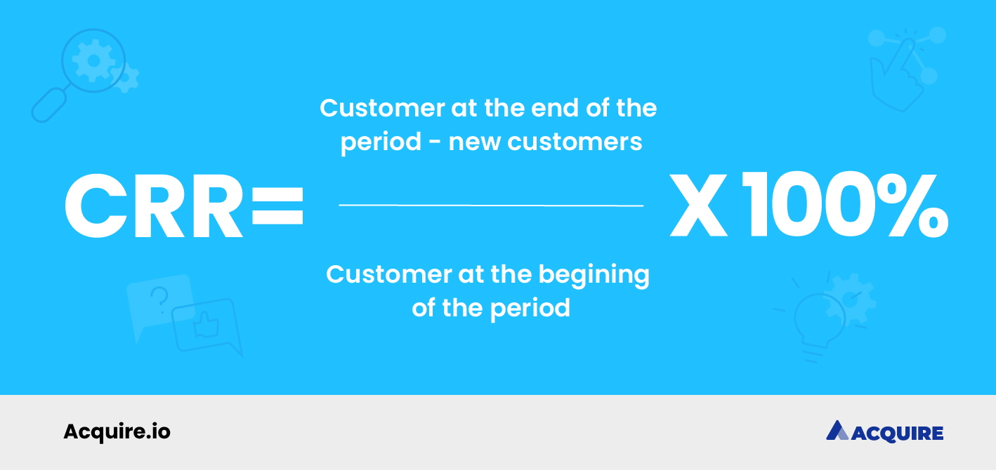 How to calculate customer retention rate formula