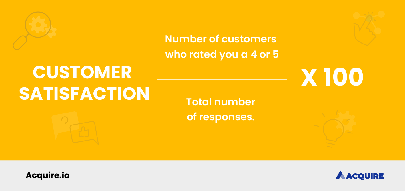 How to calculate customer satisfaction score formula