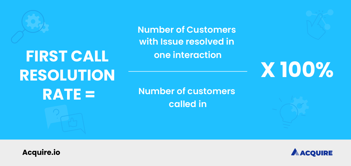 How to calculate first call resolution rate formula