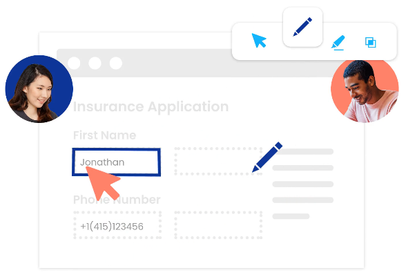 Customer service agent helping visitor using cobrowse
