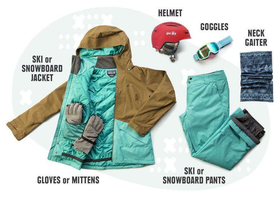 Ski clothing recommendations from online shop
