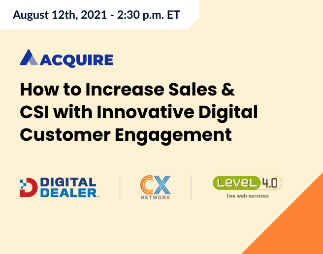How to Increase Sales & CSI with Innovative Digital Customer Engagement