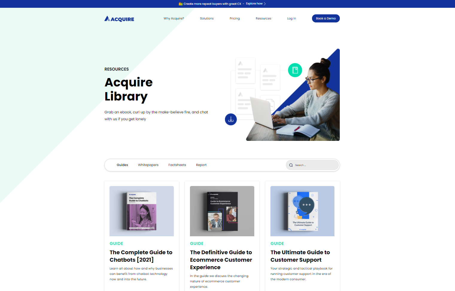 Acquire library page of free ebooks and whitepapers