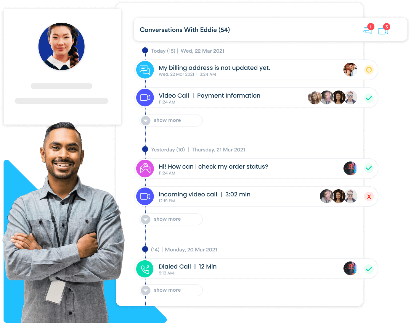 Communicate with your customers across any channels from one dashboard