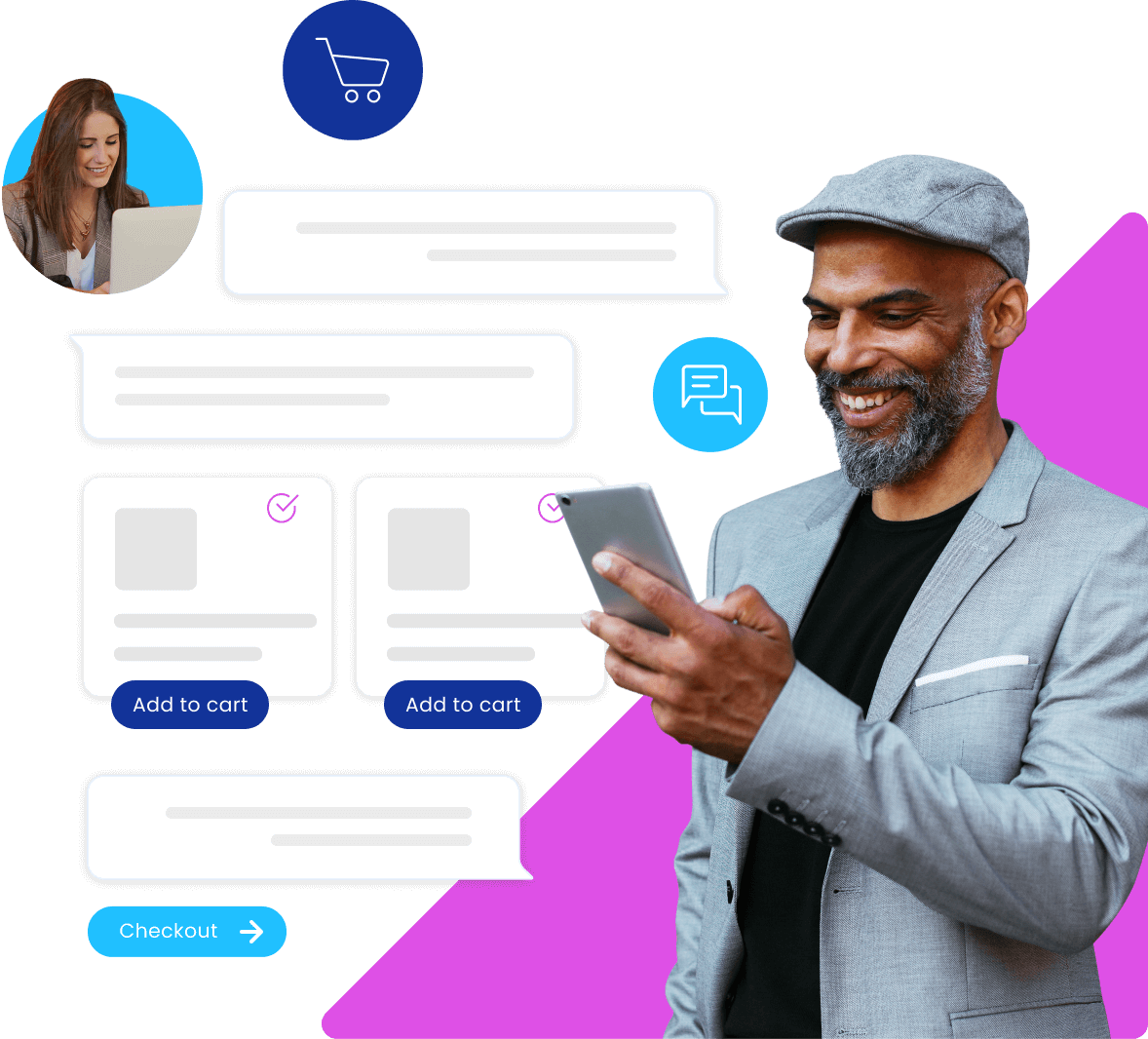 Connect with shoppers instantly with the help of acquire customer experience software for retail