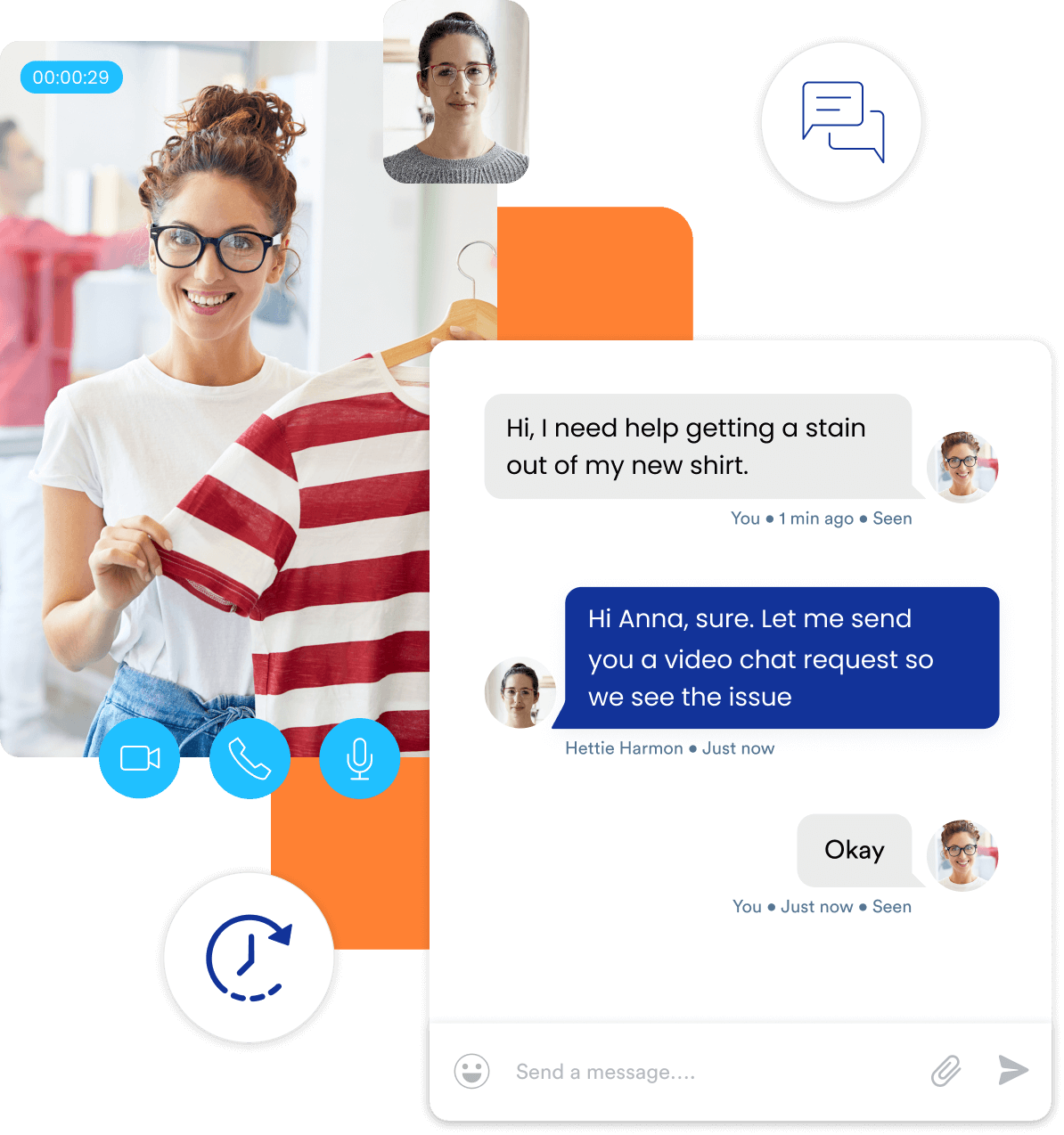 Assist your customers with live video chat solution