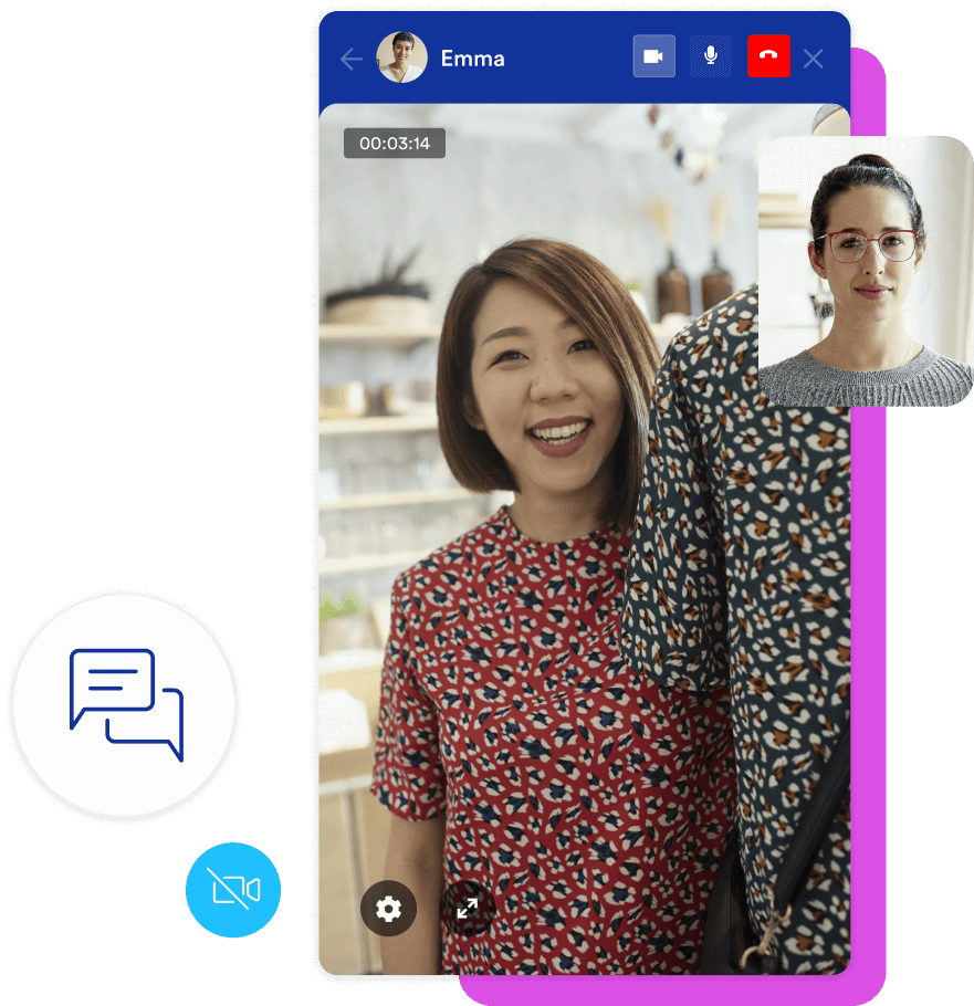 Video chat in chat widget