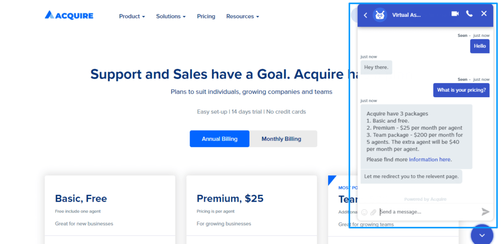 How AI can improve customer experience through Acquire's platform.